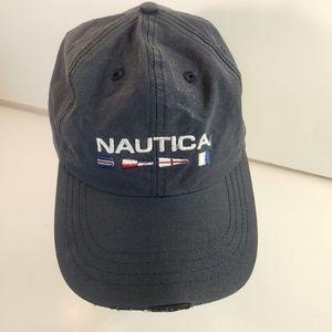 Nautica Distressed Gray Adjustable Cap Hat 🔥